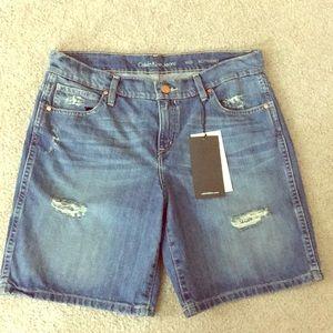 ✨Calvin Klein boyfriend shorts sz 28x 7 nwt $65 ✨
